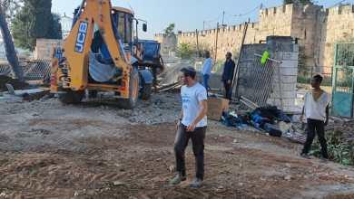 صورة لليوم الثاني: الاحتلال يواصل التجريف في المقبرة اليوسفية بالقدس