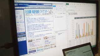 ChromecastでWindowsPCの画面をテレビに表示できます。ExcelやPowerPointをテレビで表示することも。