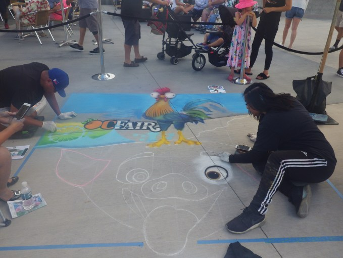 OC Fair Chalk Artist