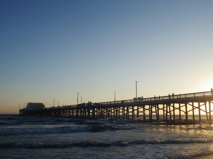 Newport Beach Pier from side