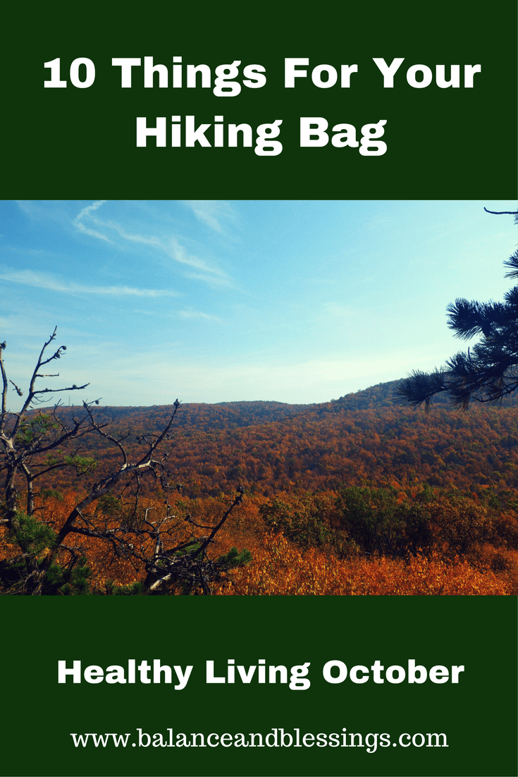 10 Things for your hiking bag