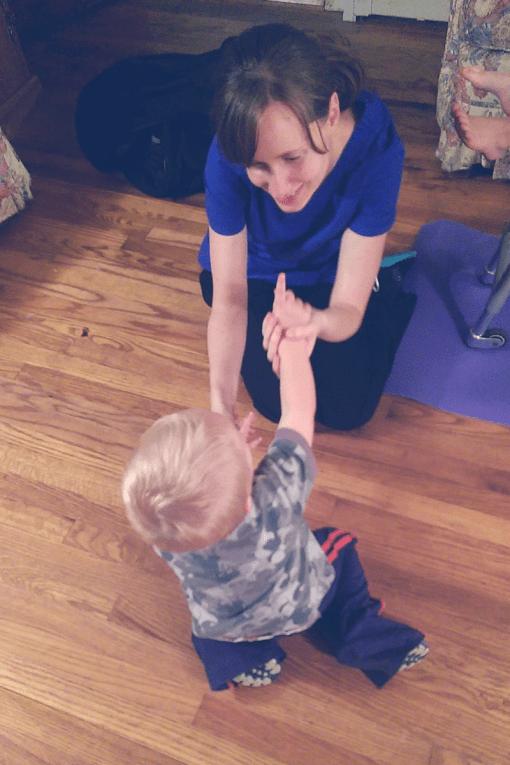 pediatric massage sitting