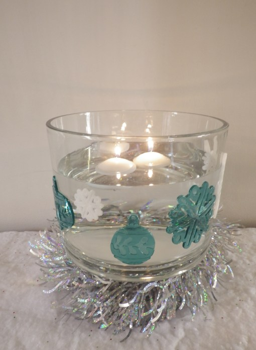 Trifle Bowl floating candles