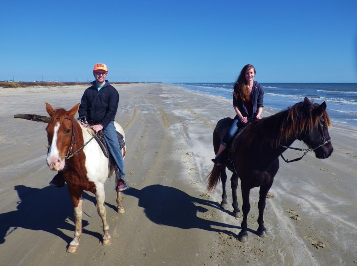 Galveston in January horse ride