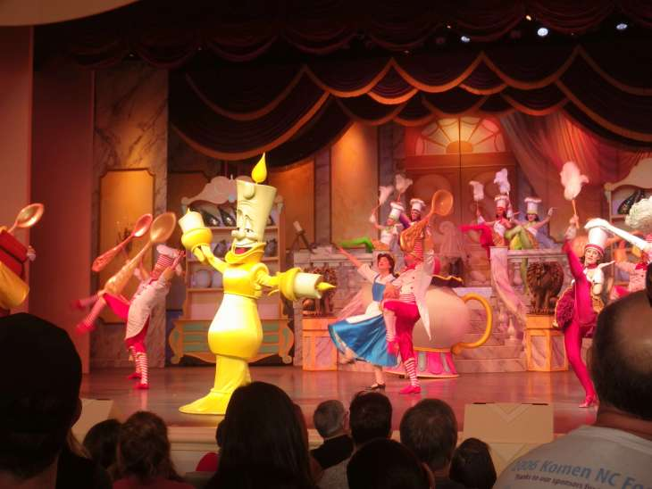 disney live stage shows beauty and the beast dancing