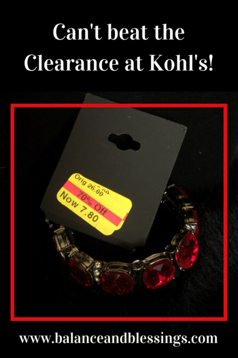 Clearance at Kohl's jewelry shopping