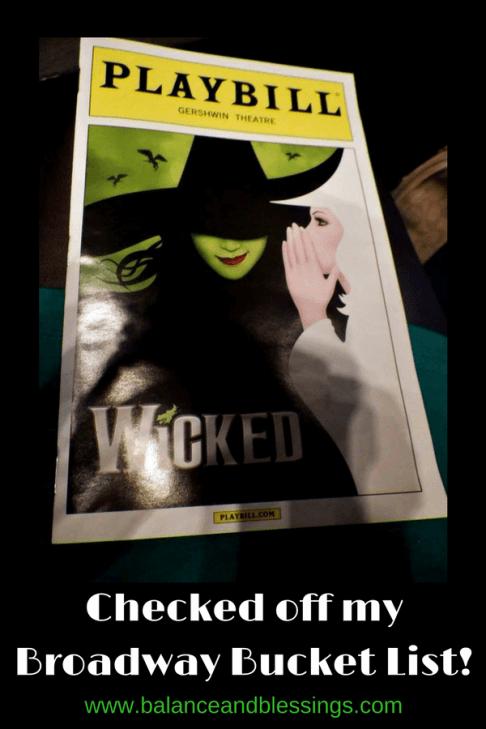 Broadway show Bucket List wicked