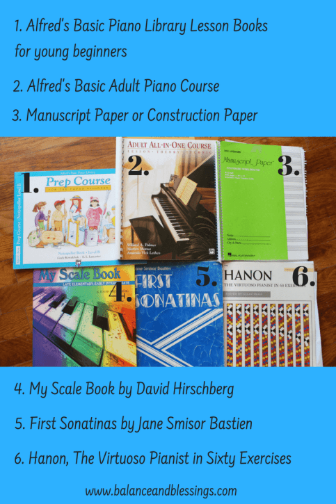 piano books for beginner students