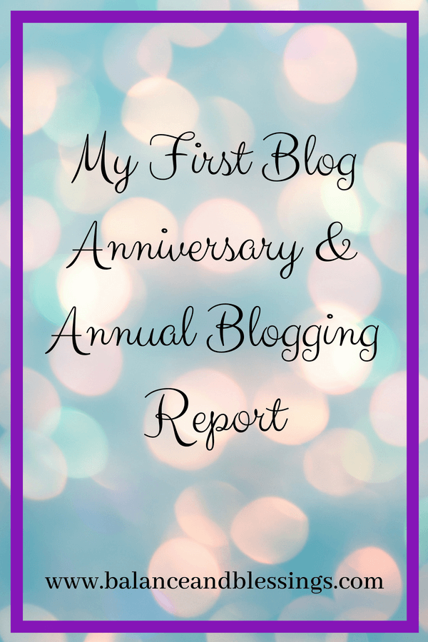 My First Blog Anniversary & Annual Blogging Report