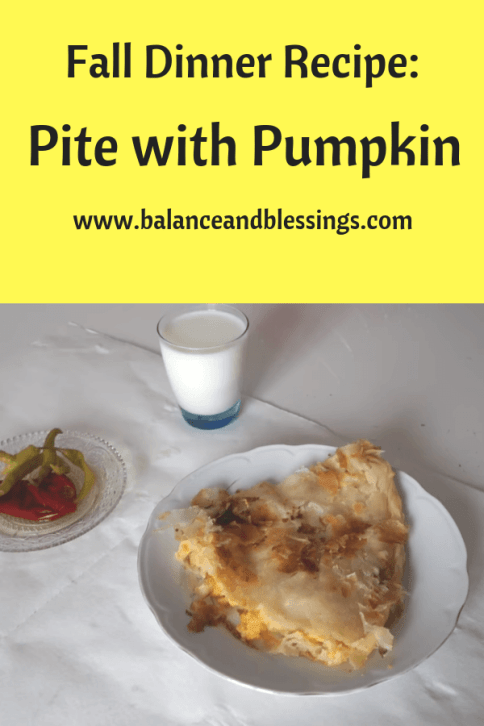 fall dinner recipe pite with pumpkin finished