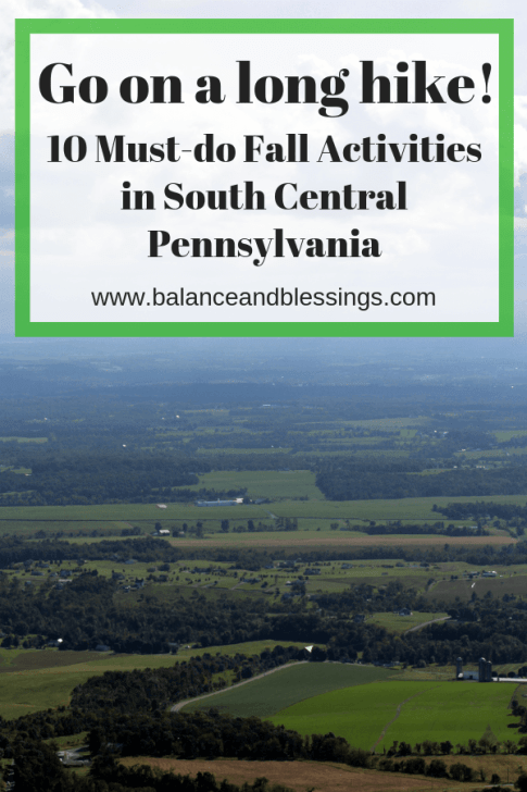 Go on a long hike! fall activities in south central pa