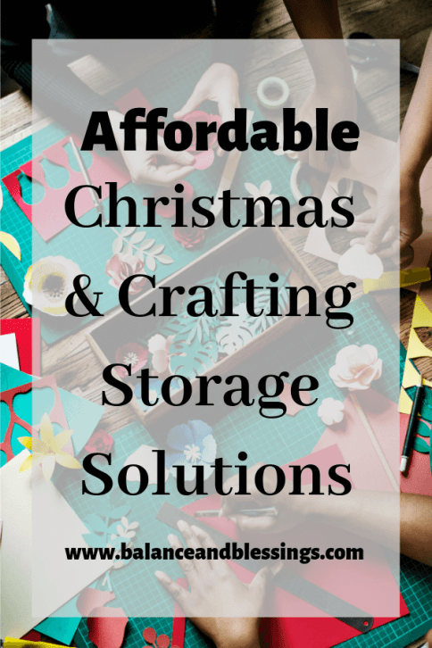 Affordable Christmas and Crafting Storage Solutions for anyone