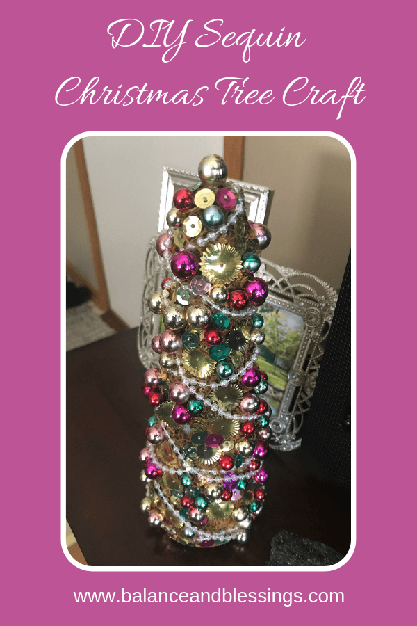DIY Sequin Christmas Tree Craft