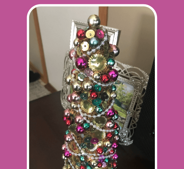 DIY Sequin Christmas Tree Craft bead tree