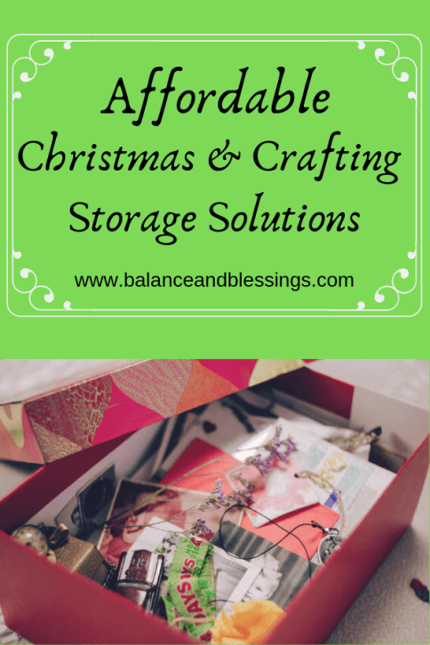 easy Affordable Christmas and Crafting Storage Solutions