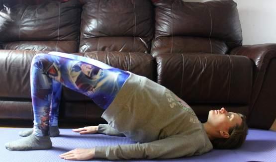 easy yoga poses bridge pose