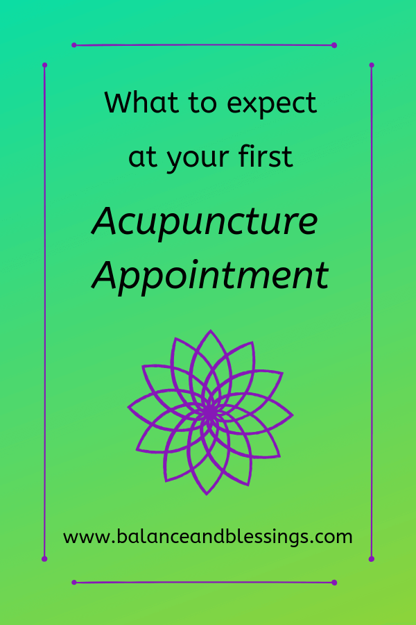 What to expect at your first Acupuncture Appointment