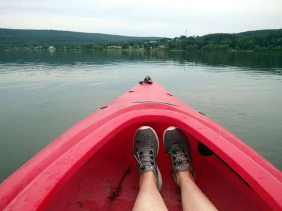 frontlines grocery worker staying healthy kayak
