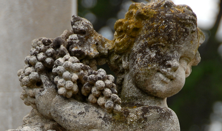 19th Century ornamental features at Beleura Mansion Mornington