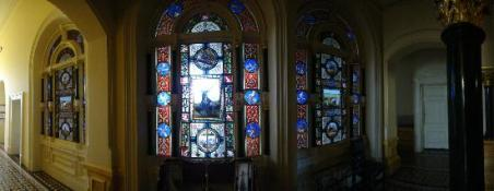 Hertiage stained glass at Rupertswood Mansion