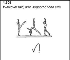 Walkover forward, one arm