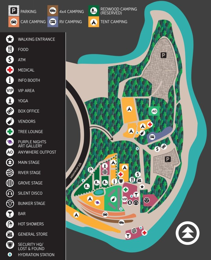 Northern Nights 2018 Festival Map