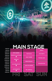 Northern Nights 2018 Set Times - Main Stage