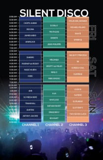 Northern Nights 2018 Set Times - Silent Disco