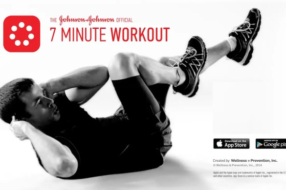 The 7 Minute Workout Featured Image shows a man laying on the ground doing sit ups.