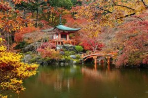 Daigo-ji Buddhist Temple in Japan represents the Buddhism 101 article.