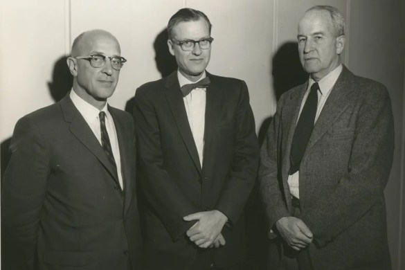 Carl Rogers is shown pictured with Robert Sears and Henry Murray.