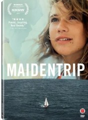 The cover for the 2013 documentary Maidentrip is shown. This film takes viewers along for the ride as 13-year-old Laura Dekker becomes the youngest person to sail around the world.