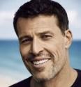 A headshot is shown of Self-Help Leader Tony Robbins.