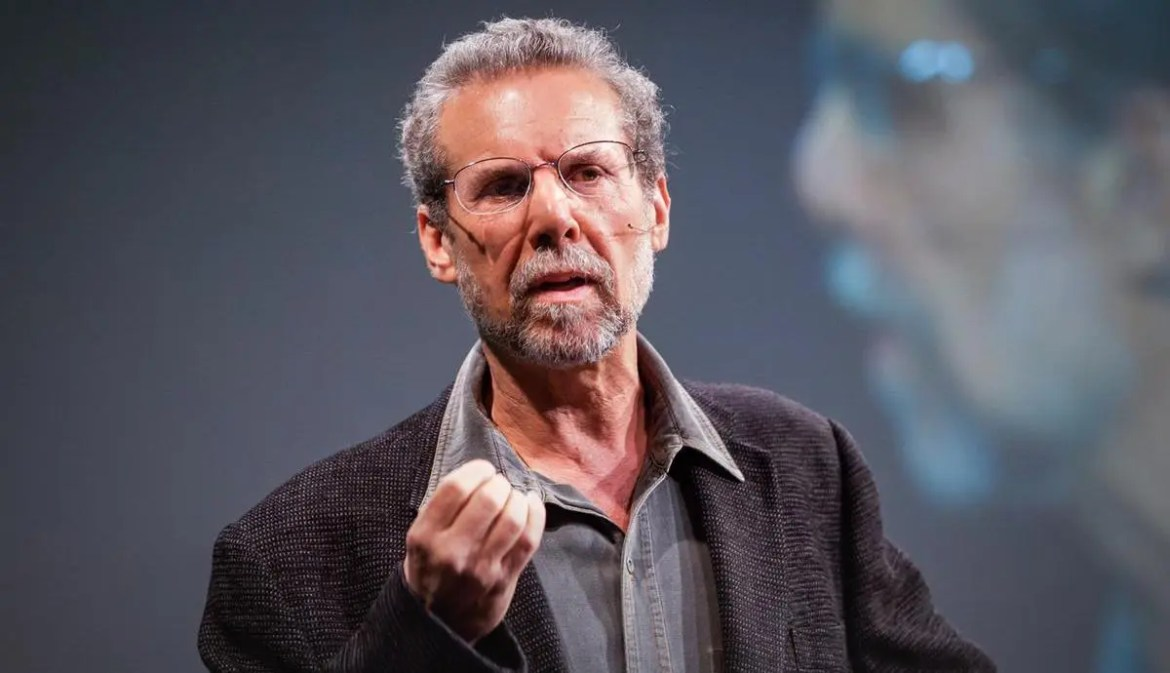 An image shows psychologist Daniel Goleman during his 2007 Ted Talks speech.