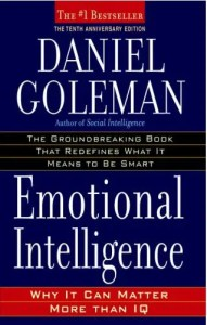 The cover of Daniel Goleman's Emotional Intelligence is shown.