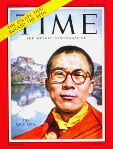 The cover of Time magazine's 1959 issue looking at the Dalai Lama's exile from Tibet into India is shown. His Holiness the 14th Dalai Lama is a model for showing what gratitude can do for our lives.