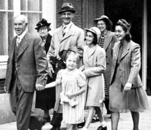 An image shows Anne Frank and her family walking happily on their way to a wedding.