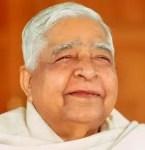 A headshot image is shown of the iconic Viapassana Meditation teacher S.N. Goenka.