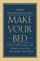 An image shows the cover of Make Your Bed which made Balanced Achievement's list of the 10 best personal transformation books of 2017.