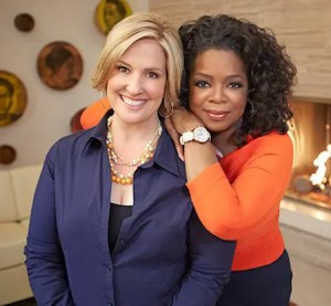 An image shows inspirational icons Brene Brown and Oprah Winfrey side by side.