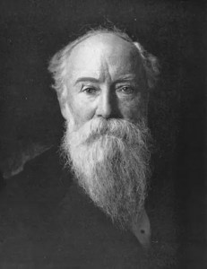 A headshot image of John Burroughs, who along with other famous naturalists illuminated the wisdom that can be found in nature, is pictured.