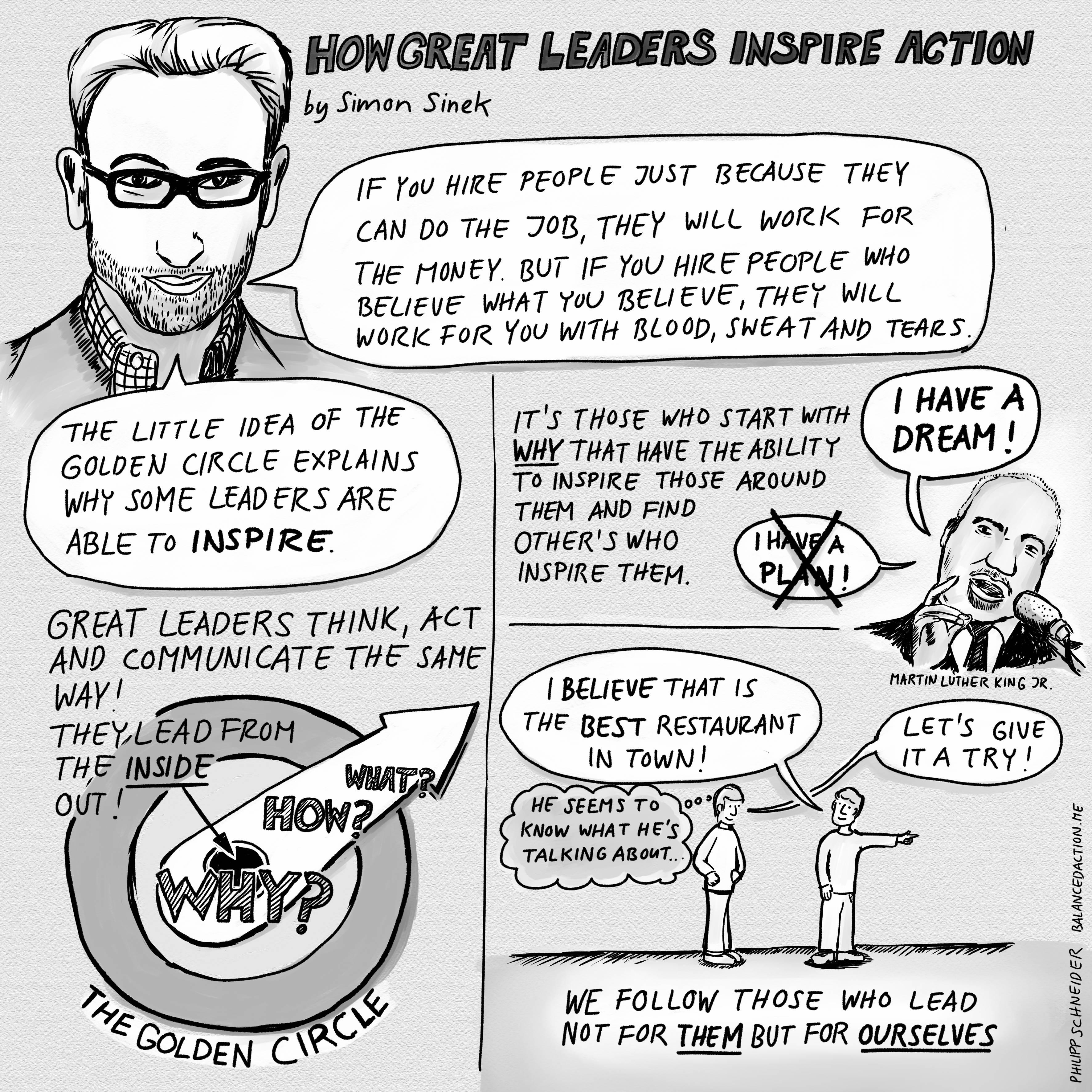 Sketchnote Simon Sinek On How Great Leaders Inspire