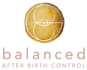 Balanced After Birth Control White Logo