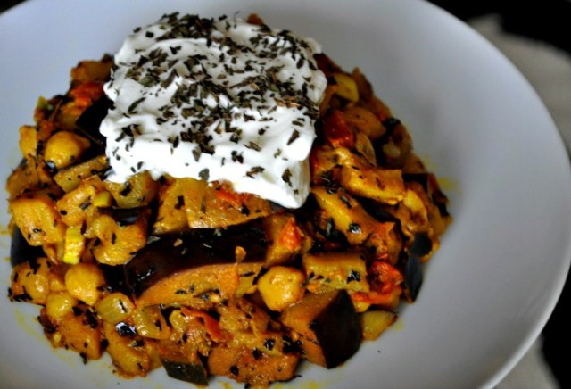 eggplant-bean-pepper-bowl-recipe