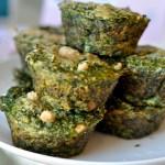 Breakfast Chickpea Spinach Muffins