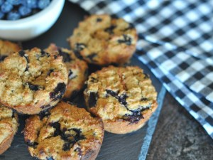 glutenfree vegan blueberry muffins