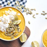 Vegan Sweet Potato Carrot Coconut Thai Soup