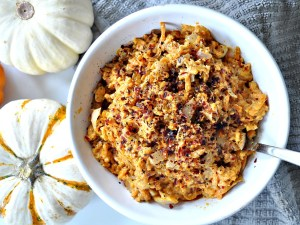 sweet potato rice with garlic sauce