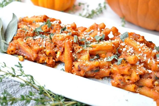 gluten free dairy free pumpkin sage pasta