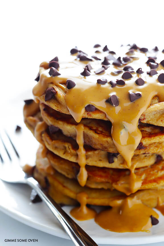 Whole-Wheat-Peanut-Butter-Chocolate-Chip-Pancakes-11